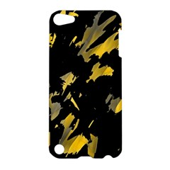 Painter Was Here   Yellow Apple Ipod Touch 5 Hardshell Case by Valentinaart
