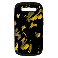 Painter Was Here   Yellow Samsung Galaxy S Iii Hardshell Case (pc+silicone) by Valentinaart