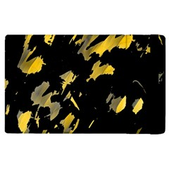 Painter Was Here   Yellow Apple Ipad 3/4 Flip Case by Valentinaart
