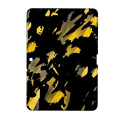 Painter Was Here   Yellow Samsung Galaxy Tab 2 (10 1 ) P5100 Hardshell Case  by Valentinaart