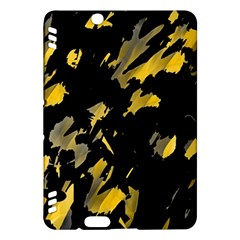 Painter Was Here   Yellow Kindle Fire Hdx Hardshell Case by Valentinaart