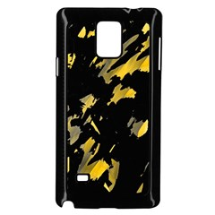 Painter was here - yellow Samsung Galaxy Note 4 Case (Black) by Valentinaart