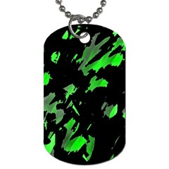 Painter Was Here   Green Dog Tag (two Sides) by Valentinaart