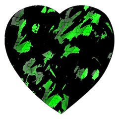 Painter Was Here   Green Jigsaw Puzzle (heart) by Valentinaart