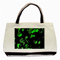 Painter Was Here   Green Basic Tote Bag by Valentinaart