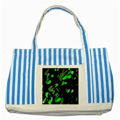Painter Was Here   Green Striped Blue Tote Bag by Valentinaart