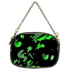 Painter Was Here   Green Chain Purses (two Sides)  by Valentinaart