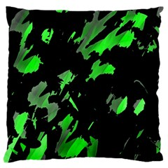 Painter Was Here   Green Large Cushion Case (one Side) by Valentinaart