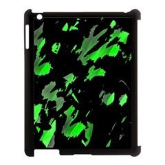 Painter Was Here   Green Apple Ipad 3/4 Case (black) by Valentinaart