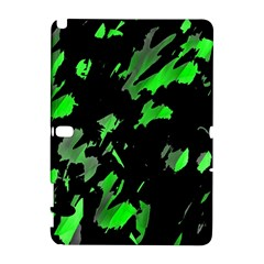 Painter Was Here   Green Samsung Galaxy Note 10 1 (p600) Hardshell Case by Valentinaart