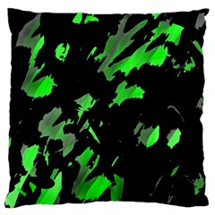 Painter Was Here   Green Standard Flano Cushion Case (two Sides) by Valentinaart