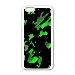 Painter Was Here   Green Apple Iphone 6/6s White Enamel Case by Valentinaart