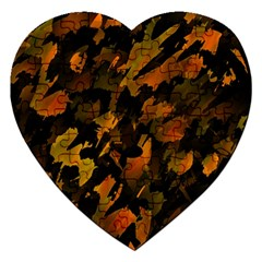 Abstract Autumn  Jigsaw Puzzle (heart) by Valentinaart