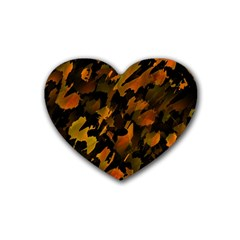 Abstract Autumn  Heart Coaster (4 Pack)  by Valentinaart