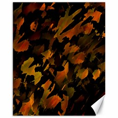 Abstract Autumn  Canvas 11  X 14   by Valentinaart