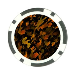 Abstract Autumn  Poker Chip Card Guards (10 Pack)  by Valentinaart