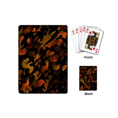 Abstract Autumn  Playing Cards (mini)  by Valentinaart