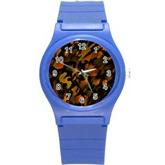 Abstract Autumn  Round Plastic Sport Watch (s) by Valentinaart