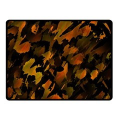 Abstract Autumn  Double Sided Fleece Blanket (small)  by Valentinaart