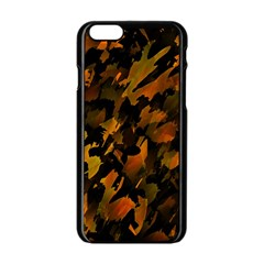 Abstract Autumn  Apple Iphone 6/6s Black Enamel Case by Valentinaart