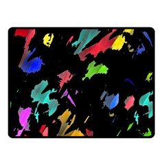 Painter Was Here Double Sided Fleece Blanket (small)  by Valentinaart