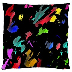 Painter Was Here Large Flano Cushion Case (one Side) by Valentinaart