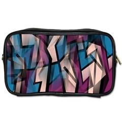 Purple High Art Toiletries Bags 2 Side by Valentinaart