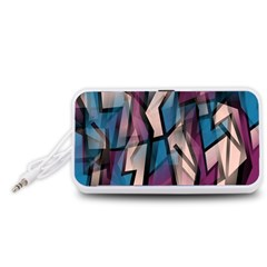 Purple high art Portable Speaker (White)  by Valentinaart