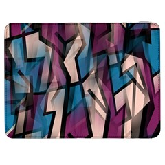 Purple High Art Samsung Galaxy Tab 7  P1000 Flip Case by Valentinaart