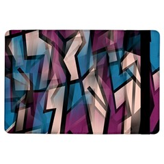 Purple high art iPad Air Flip by Valentinaart