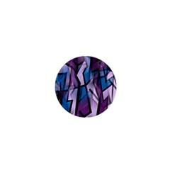 Purple Decorative Abstract Art 1  Mini Buttons