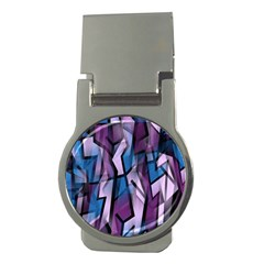 Purple Decorative Abstract Art Money Clips (round)  by Valentinaart