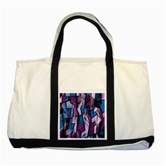 Purple decorative abstract art Two Tone Tote Bag
