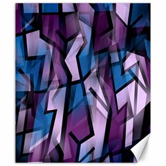 Purple Decorative Abstract Art Canvas 20  X 24   by Valentinaart