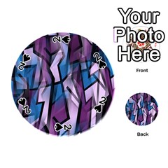 Purple Decorative Abstract Art Playing Cards 54 (round)  by Valentinaart