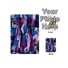 Purple Decorative Abstract Art Playing Cards 54 (mini)  by Valentinaart