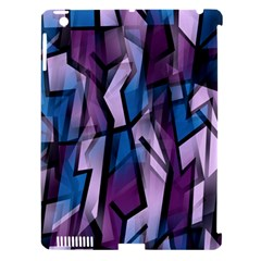 Purple Decorative Abstract Art Apple Ipad 3/4 Hardshell Case (compatible With Smart Cover) by Valentinaart
