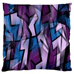 Purple Decorative Abstract Art Large Cushion Case (two Sides) by Valentinaart