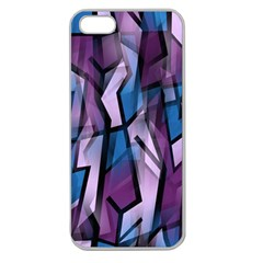 Purple Decorative Abstract Art Apple Seamless Iphone 5 Case (clear) by Valentinaart