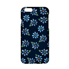 Retro Blue Daisy Flowers Pattern Apple Iphone 6/6s Hardshell Case