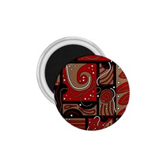 Red And Brown Abstraction 1 75  Magnets by Valentinaart