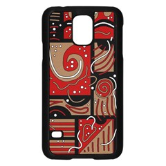 Red And Brown Abstraction Samsung Galaxy S5 Case (black) by Valentinaart