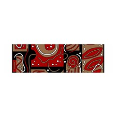 Red And Brown Abstraction Satin Scarf (oblong) by Valentinaart