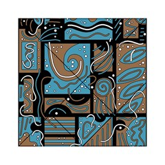 Blue And Brown Abstraction Acrylic Tangram Puzzle (6  X 6 ) by Valentinaart