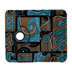 Blue and brown abstraction Samsung Galaxy S  III Flip 360 Case by Valentinaart