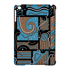 Blue And Brown Abstraction Apple Ipad Mini Hardshell Case (compatible With Smart Cover) by Valentinaart