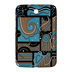 Blue And Brown Abstraction Samsung Galaxy Note 8 0 N5100 Hardshell Case  by Valentinaart