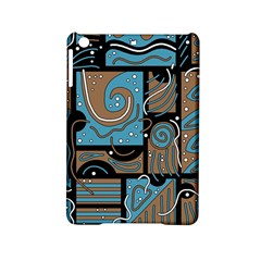 Blue And Brown Abstraction Ipad Mini 2 Hardshell Cases by Valentinaart