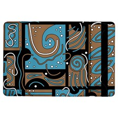 Blue And Brown Abstraction Ipad Air Flip by Valentinaart