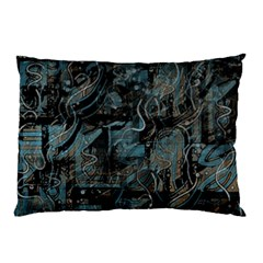 Blue town Pillow Case (Two Sides)